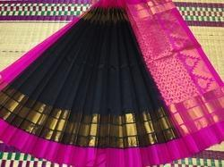 Korvai Silk Border Silkcotton Saree