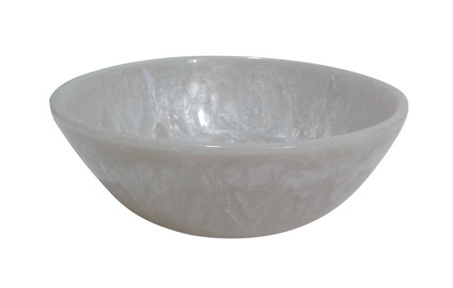 White Pearl Resin Bowl