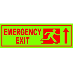 Emergency Exit Vinyl Sticker