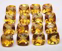 Golden Citrine Faceted Stone