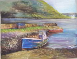 Landscape Silk Painting