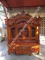Dark Polish Teak Wood Temple