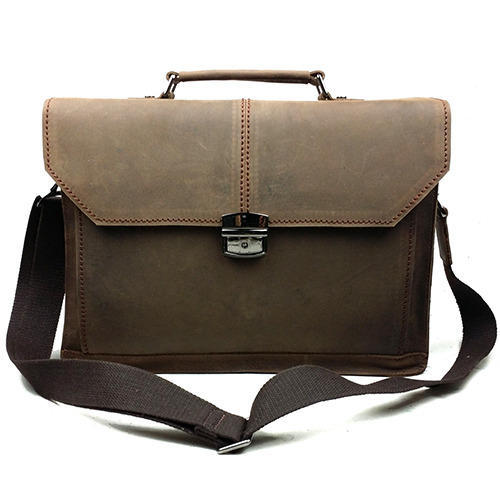 Mens Leather Office Bags from Kolkata
