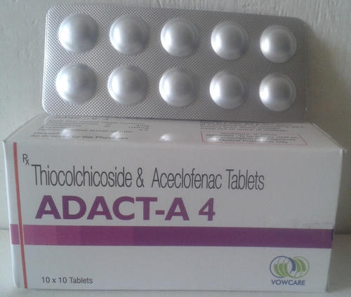 Thiocolchicoside 4 mg  Aceclofenac IP 100mg