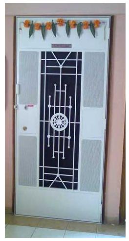 Safety Door Ashok Chakra Design At Rs 13500 Piece S