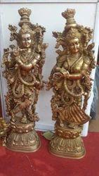 Brass Radha Kishan Statues