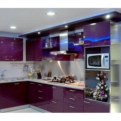 Metal Modular Kitchen Dhatu Ka Modular Rasoighar