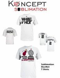 Sublimation Rice Net T Shirts