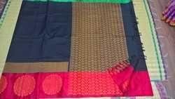 Silk Cotton Sarees Korva Silk Border with Border Design