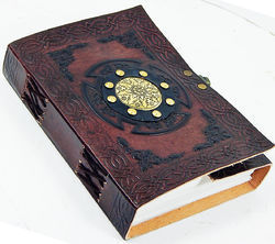 embossed metal leather journal