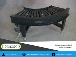 90 Degree Powered Roller Conveyor System