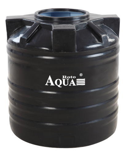 Two Layer Black Cylindrical Water Storage Tanks