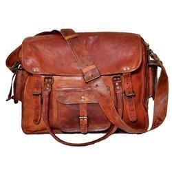 Junkyard Leather Messenger Bag- Rocco