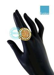 Traditional Antique Stone Studded Finger Ring