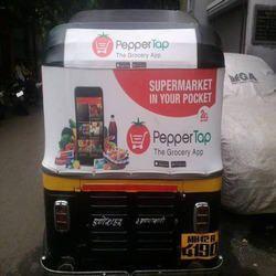 Auto Rickshaw Hood Branding Service