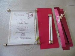Custom Made Scroll Wedding Invites