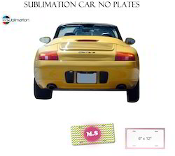 customized metal sublimation car no plates