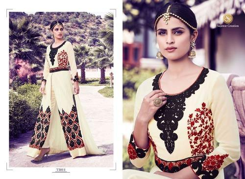 Party Wear Anarkali Dress Material
