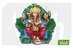 Vaah Resin Antique Ganesha on Leaf