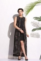 Long Dress Ld 1603 Printed Dress With Metal Accessory