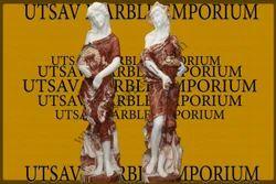 Choco Vanila and Karara White Marble European Lady Statues