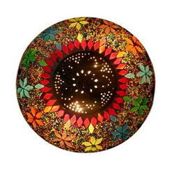 Mosaic Ceiling Lamp With Metal