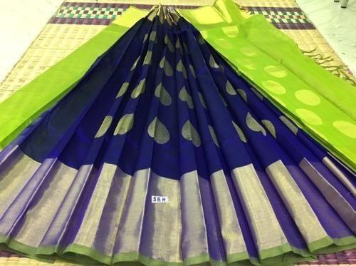 Silk Cotton 300 Kadi Ball Butta Sarees