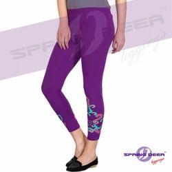 Small Printed Single Jersey Leggings