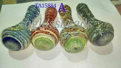 Double Blown inside out Glass Smoking Pipe