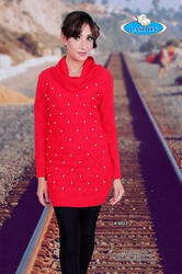 Red Woolen Tops