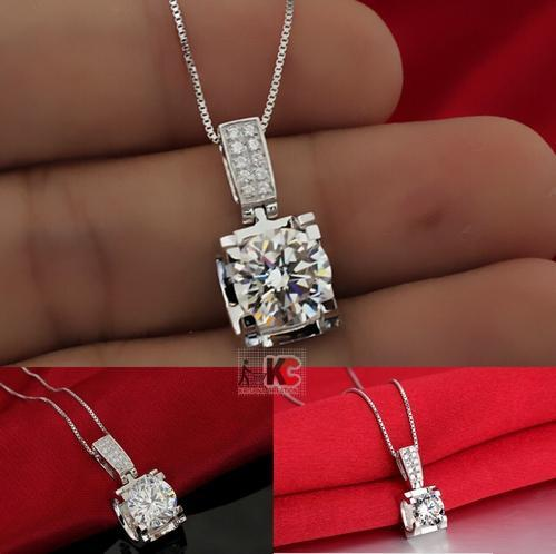 shaped carat set pendant white in gold shape moissanite heart view
