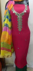Pink Gota Patti Suit With Dupatta