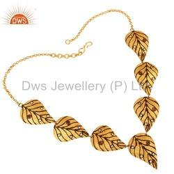 925 Silver Leaf Design Necklace