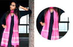 Pink Chanderi Silk Dupatta