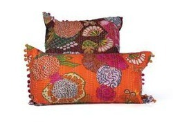 Kantha Tropical Pillow Cover
