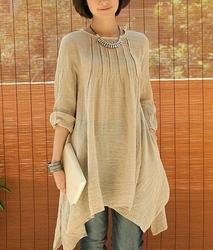 Pure Cotton Linen Ladies Kurti