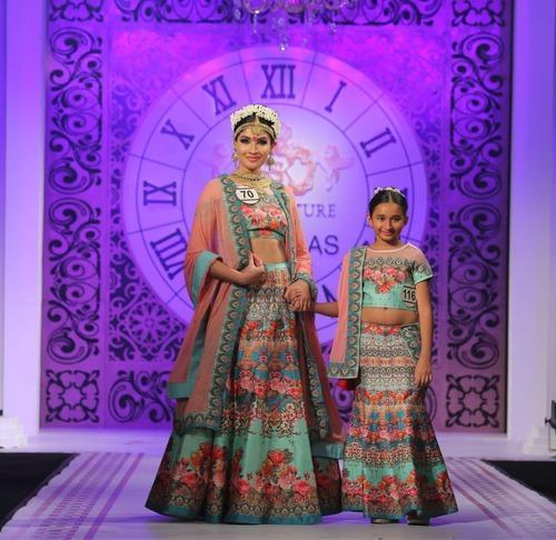 Mother Daughter Digital Gown Lehenga