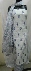 Jacquard Printed Dress Material