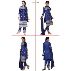 Blue Heavy Embroidered Suit
