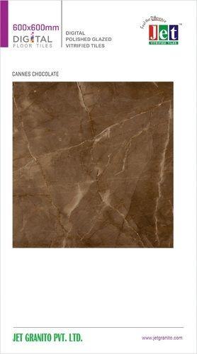 Cannes Chocolate Polished Glazed Vitrified Tile