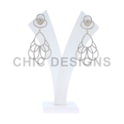Diamond Pave Designer Earrings