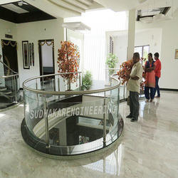 Metal Railing with Glass