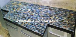 blue tiger eye counter top slab
