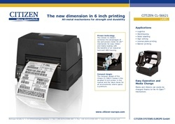 Citizen CL S6621 6 Inch Barcode Printers