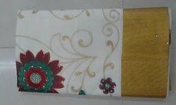 Kerala Cotton Saree - Embroidering