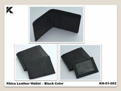 Leather Khisa Wallet Black Color
