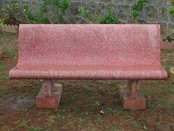 Cement Park Bench