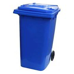 Two Wheel Plastic Container