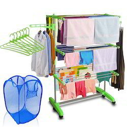 Kawachi Mild Steel with ABS Plastic Laundry Hanger Cloth Dry