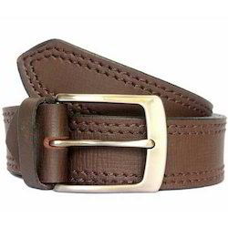Casual Dark Brown Leather Belt